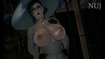 Девчоночка в обнаженном образе сосет жезл и ебется с хахалем